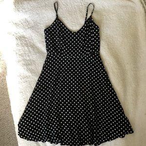 Forever21 Polka Dot Midi Strap Dress